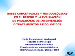 Bases conceptuales y metodologicas evaluacion programas