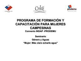 PROGRAMA DE FORMACIÓN Y CAPACITACIÓN PARA MUJERES