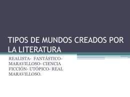 tipos de mundos creados por la literatura[1]