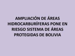 AMPLIACIÓN DE ÁREAS HIDROCARBURÍFERAS PONE