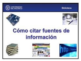3. Como citar fuentes bibliográficas - Campus Virtual