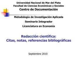 citas, notas, referencias bibliográficas