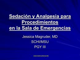 Sedación y Analgesia para Procedimientos en la Sala de