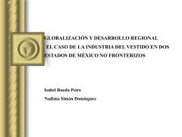 """""""Comportamiento de la industria del vestido de México en el"""