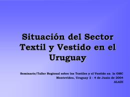 Situación del Sector Textil y Vestido en el Uruguay