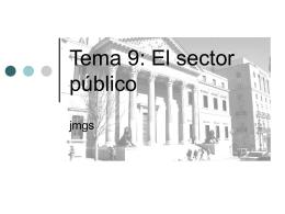Tema 9: El sector público