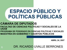 ESPACIO PÚBLICO Y POLÍTICAS PÚBLICAS