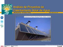 Análisis de Proyectos de Calentamiento Solar de Agua
