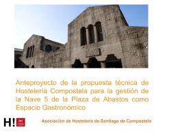Anteproyecto para un nuevo espacio gastronómico de la plaza de