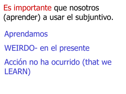 PPT 4 forms of the subjunctive