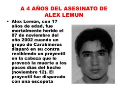 A 4 AÑOS DEL ASESINATO DE ALEX LEMUN