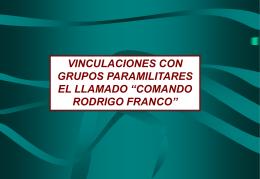 Comando Rodrigo Franco - Congreso de la República del Perú