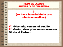 Laudes Jueves IV de Cuaresma - parroquia nuestra señora del