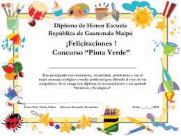 Diploma de Honor Escuela República de