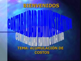 Sistemas de Acumulación de Costos