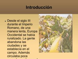 Clase nº I, inicios de la Edad Media