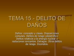 TEMA 15.- DELITO DE DAÑOS