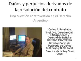 Daños y perjuicios derivados de la resolución del contrato