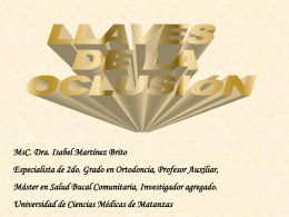 Oclusion - Universidad Virtual de Salud