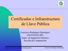 Certificados e Infraestructura de llave Pública (PKI)
