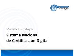 Presentación de la exposición sobre la Infraestructura de Firma Digital