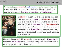 UNO Y TRINO 07 RELACIONES DIVINAS