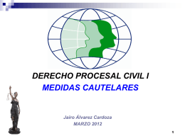 MEDIDAS CAUTELARES. EMBARGO PREVENTIVO