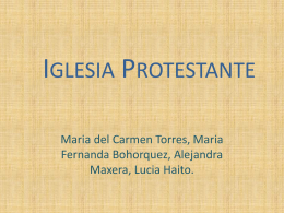 Iglesia Protestante - Cambridge College Secondary Religion