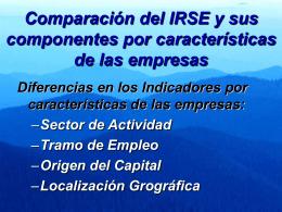 Presentación IRSE 2009, ppt
