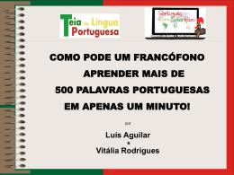 Aprender cem novas palavras portuguesas em um minuto