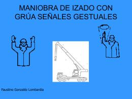 MANIOBRA DE IZADO CON GRUA SEÑALES GESTUALES