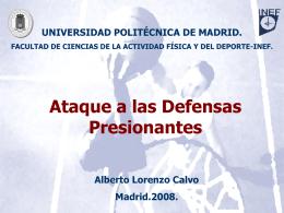 Ataque a las Defensas Presionantes - OCW UPM