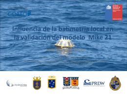 Influencia de la batimetría local en la validación del modelo Mike 21