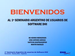 1º Seminario Argentino de usuarios de Software DHI