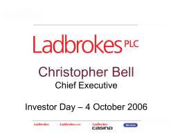 Christopher Bell Chief Executive Investor Day – 4