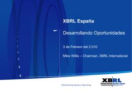 Mr. Mike Willis - Asociación XBRL España