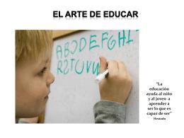 El arte de educar.