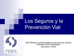 El Fondo de Prevención Vial