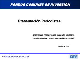Fondos Comunes de Inversión - Comisión Nacional de Valores