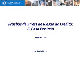 III. Pruebas de Stress de Riesgo de Crédito