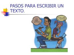 Pasos para escribir un texto