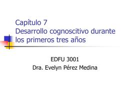 Capítulo 7 Desarrollo cognoscitivo durante los primeros tres años