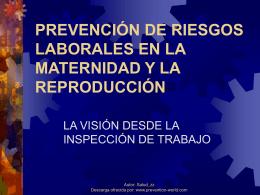 la protección de la salud en el trabajo durante el embarazo