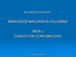 Mercado Mayorista de Colombia y Cargo por Confiabilidad