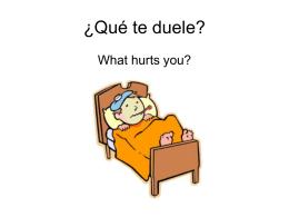 ¿Qué te duele?