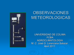 agrometeorologia observaciones meteorologicas