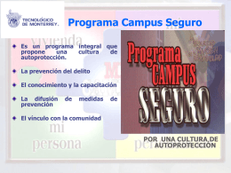 Programa Campus Seguro Recomendaciones
