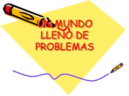 UN MUNDO LLENO DE PROBLEMAS - Colegio Cooperativa San