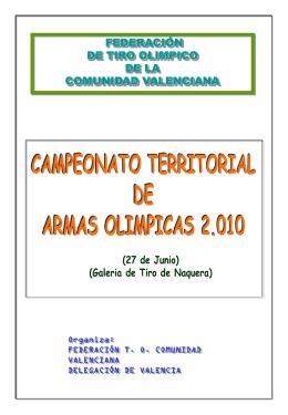 PROGRAMA CAMP. TRR. - Federación de Tiro