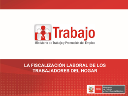 TRABAJADORAS DEL HOGAR - MINISTERIO DE TRABAJO